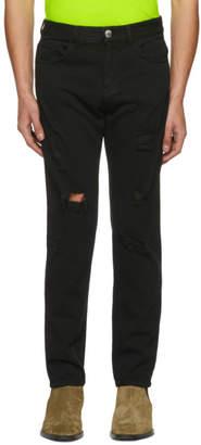 Versus Black Distressed Jeans