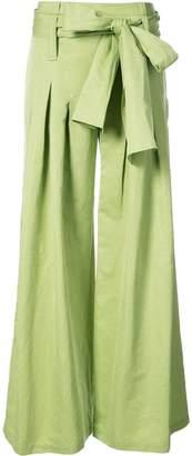 Rosie Assoulin tie-waist flared trousers