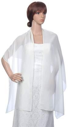BessWedding Fashion Long Chiffon Bridal Wrap Evening Shawls Scarves/Stole/Pashmina
