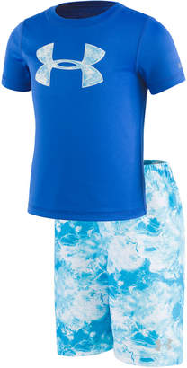 7f6f381caff3 Under Armour Toddler   Little Boys 2-Pc. Rash Guard   Printed Swim Trunks