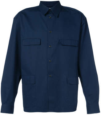 Lemaire pointed collar shirt