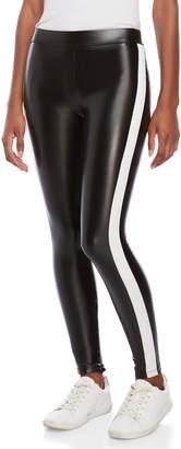 David Lerner Faux Leather Side Stripe Leggings