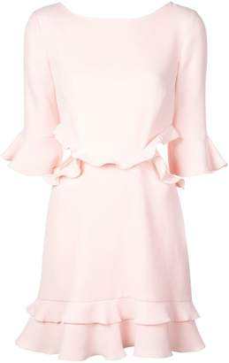 Rachel Zoe ruffle trim mini dress