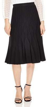 Sandro Henzo Textured Midi Skirt