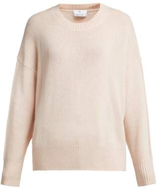 Allude Crew Neck Cashmere Sweater - Womens - Beige