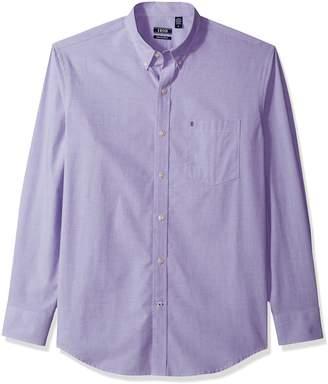 Izod Men's Tall Essential Solid Long Sleeve Shirt