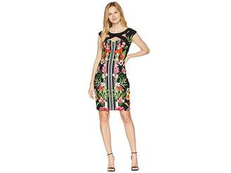 Sangria Tropical Cap Sleeve Dress Women's Dress