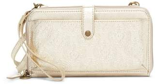 The Sak COLLECTIVE Holden Embossed Leather Crossbody Wallet