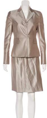 Akris Punto Silk Skirt Suit