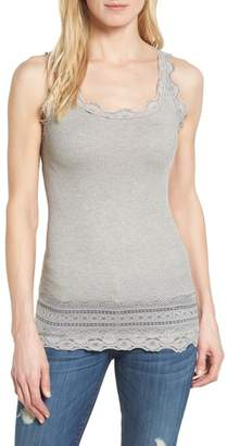 Rosemunde Silk & Cotton Rib Knit Tank