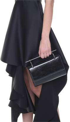 M2Malletier Fabricca Patent-leather Handbag