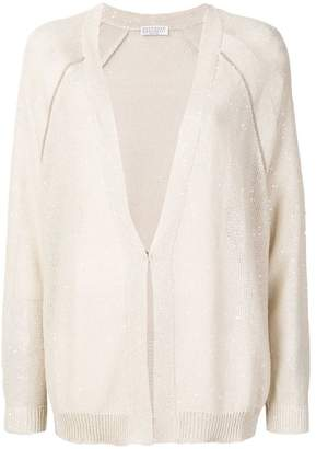 Brunello Cucinelli long line sequins cardigan