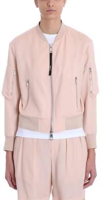 Neil Barrett Pink Cotton Bomber Jacket