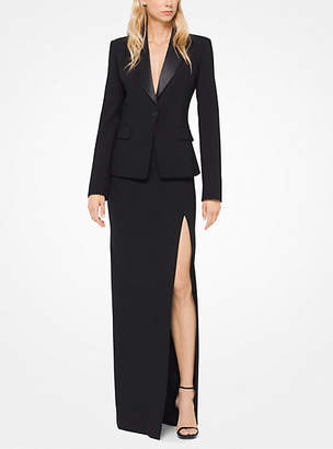 Michael Kors Stretch Pebble-Crepe Tuxedo Blazer