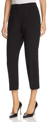 Kate Spade Cropped Lace-Trimmed Cigarette Pants