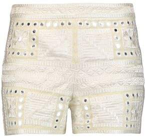 Alice + Olivia Alice+olivia Marisa Embroidered Broderie Anglaise-Trimmed Cotton Shorts
