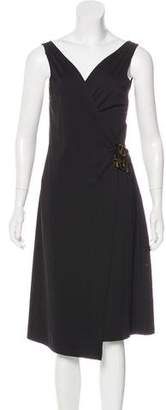 Alberta Ferretti Jersey Wrap Dress
