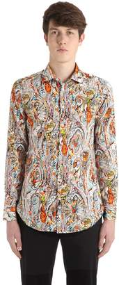 Etro Slim Paisley Print Cotton Shirting Shirt