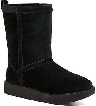 UGG Women's Classic Short Waterproof Suede & Sheepskin Booties