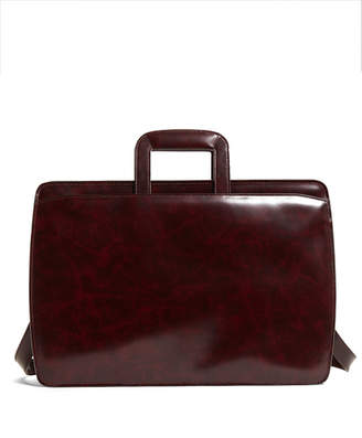 Brooks Brothers Slide Handle Leather Briefcase