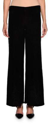 Giorgio Armani Sequined Wide-Leg Pull-On Pants, Black
