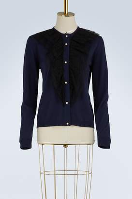 Lanvin Lace knit cardigan