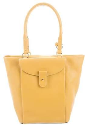 Delvaux Leather Bucket Bag Yellow Leather Bucket Bag