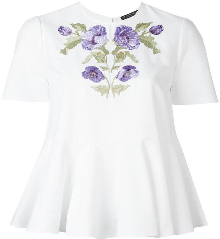 Alexander McQueenAlexander McQueen floral embroidered blouse