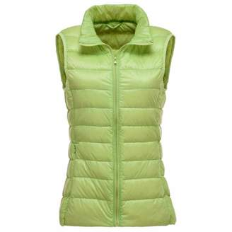 Aancy Women Sleeveless Coat Winter Ultra Light White Duck Down Vest Female Slim Vest Women's Windproof Warm Waistcoat XL