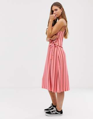 Glamorous midi wrap skirt in tonal stripe co-ord
