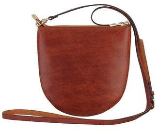Most Wanted Design by Carlos Souza Curved Essentials Leather Crossbody Bag