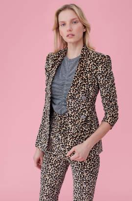 Rebecca Taylor Leopard Print Velveteen Jacket