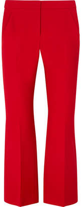 Alexander McQueen Cropped Wool-blend Flared Pants