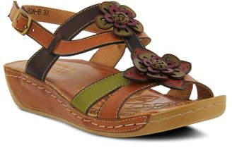 L'Artiste Phalda Floral Wedge Sandal