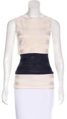 Oscar de la Renta Sleeveless Knit Top