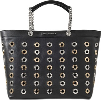 Karl Lagerfeld K/Eyelet Shopper bag $508 thestylecure.com
