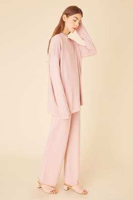 be3807889b Mansur Gavriel Alpaca Silk Oversized Funnel Neck - Rosa