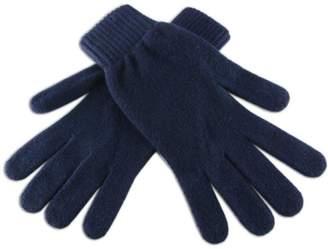Black Men's Navy Cashmere Gloves