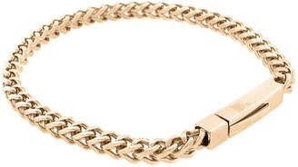 FINE JEWELRY Stainless Steel 9 Inch Solid Wheat Chain Bracelet