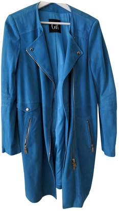 Georges Rech Blue Suede Jacket for Women