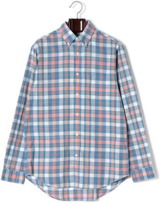 Gant チェック ボタンダウン 長袖シャツ ブルー xs