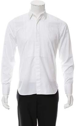 Saint Laurent French Cuff Pleated Shirt