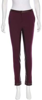 Elizabeth and James Leather-Trimmed High-Rise Pants