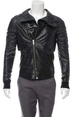 Rick Owens Cracked Leather Coat