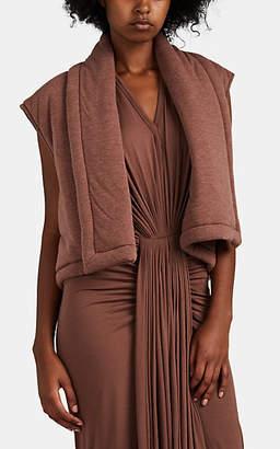 Rick Owens Women's Quilted Jersey Crop Vest - Mauve