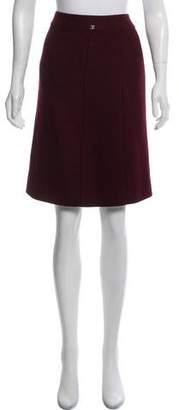 Chanel Wool-Blend Knee-Length Skirt