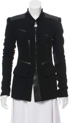 Calvin Klein Collection Leather-Trimmed Jacket