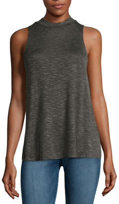 Fire Sleeveless Marled Hatchi Mockneck Top - Juniors $34 thestylecure.com