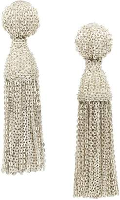 Oscar de la Renta tassel chain earrings