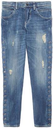 GUESS Grommet-Side Jeans, Big Girls